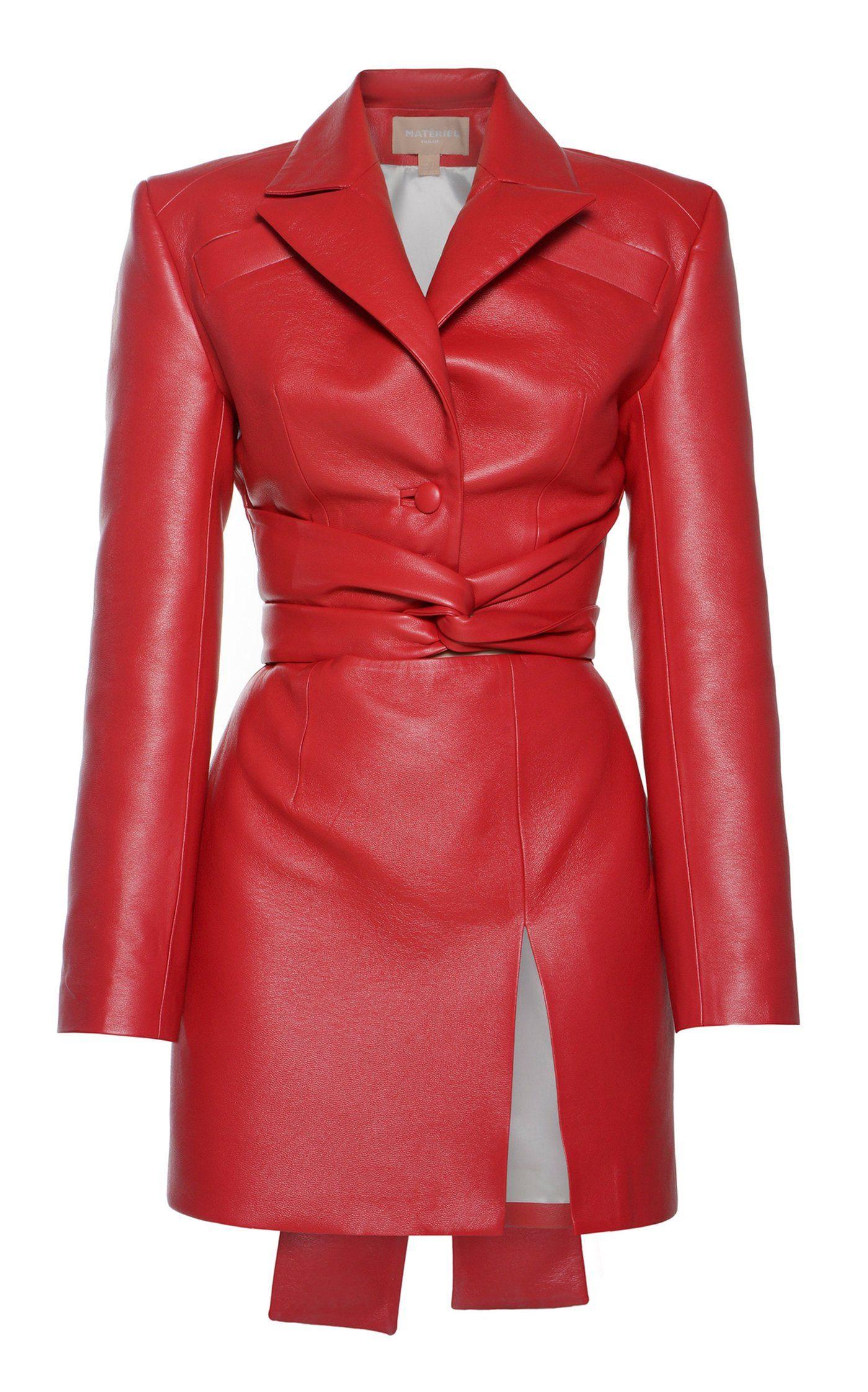 Faux Leather Waist Tie Mini Dress By Matériel   Mo