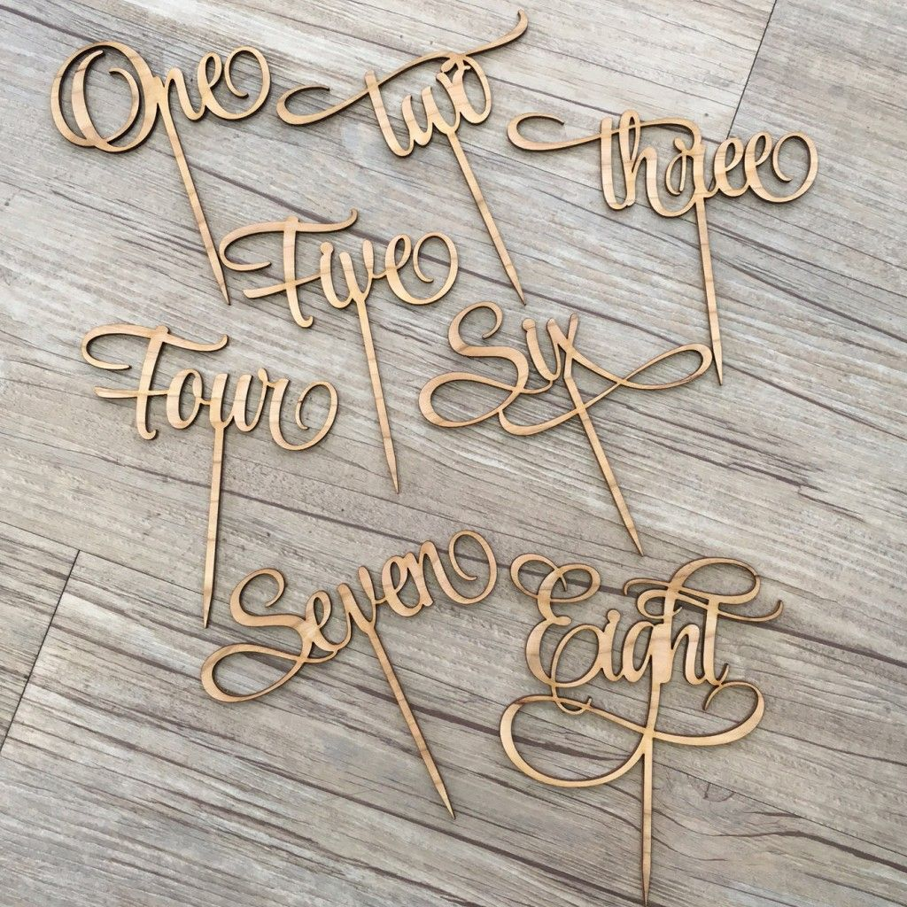 Wooden Slice Wood DIY Crafts Ornaments Happy Birthday Letter Carving Laser Cut