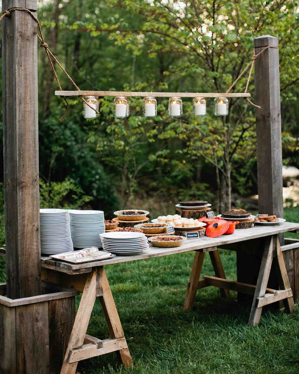 Rustic Wedding Decorations For Indoor And Outdoor Settings: Sally And Christian's Rustic Outdoor Rehearsal Dinner At