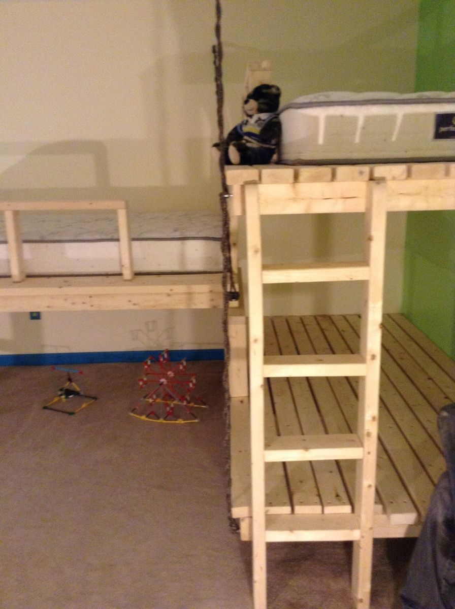 Triple Bunk inspired by the hanging day bed Ana White