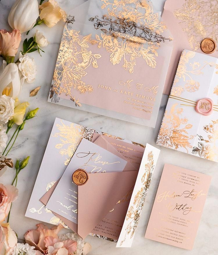 glitter 3framegz GoldInvesting is part of Rose gold wedding invitations -