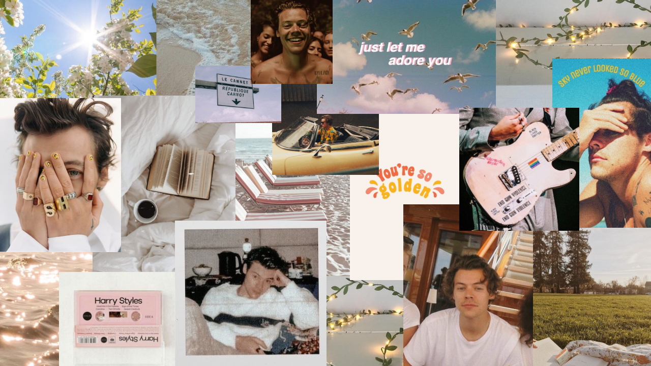 Pin By Sara Carrolli On Collages In 2020 Cute Laptop Wallpaper Harry Styles Wallpaper Aesthetic Desktop Wallpaper