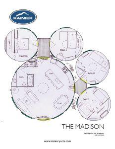 Les plans d 39 tage de yurt sont dessin s la main par un for Acheter des plans architecturaux