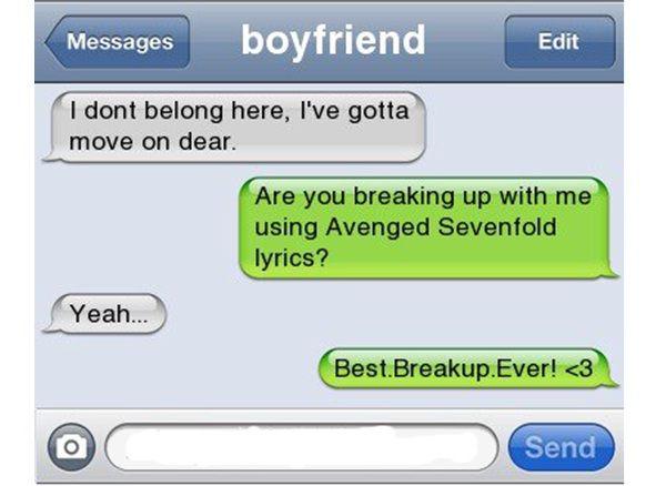 Break Up Text Quotes: Funniest Break-up Lines