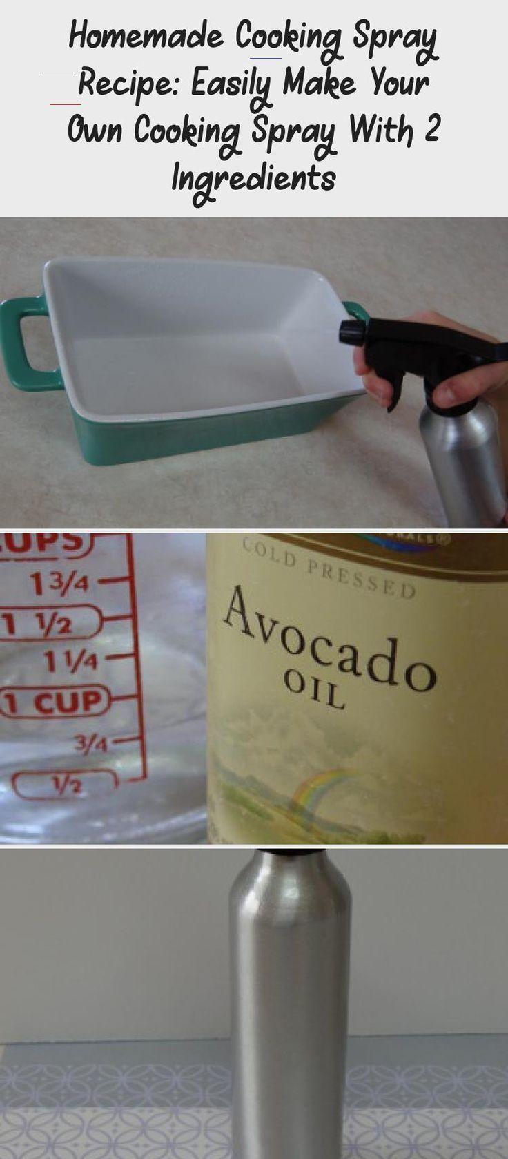Hausgemachtes Kochspray Rezept: Machen Sie ganz einfach Ihr eigenes Kochspray mit 2 Zutaten ....