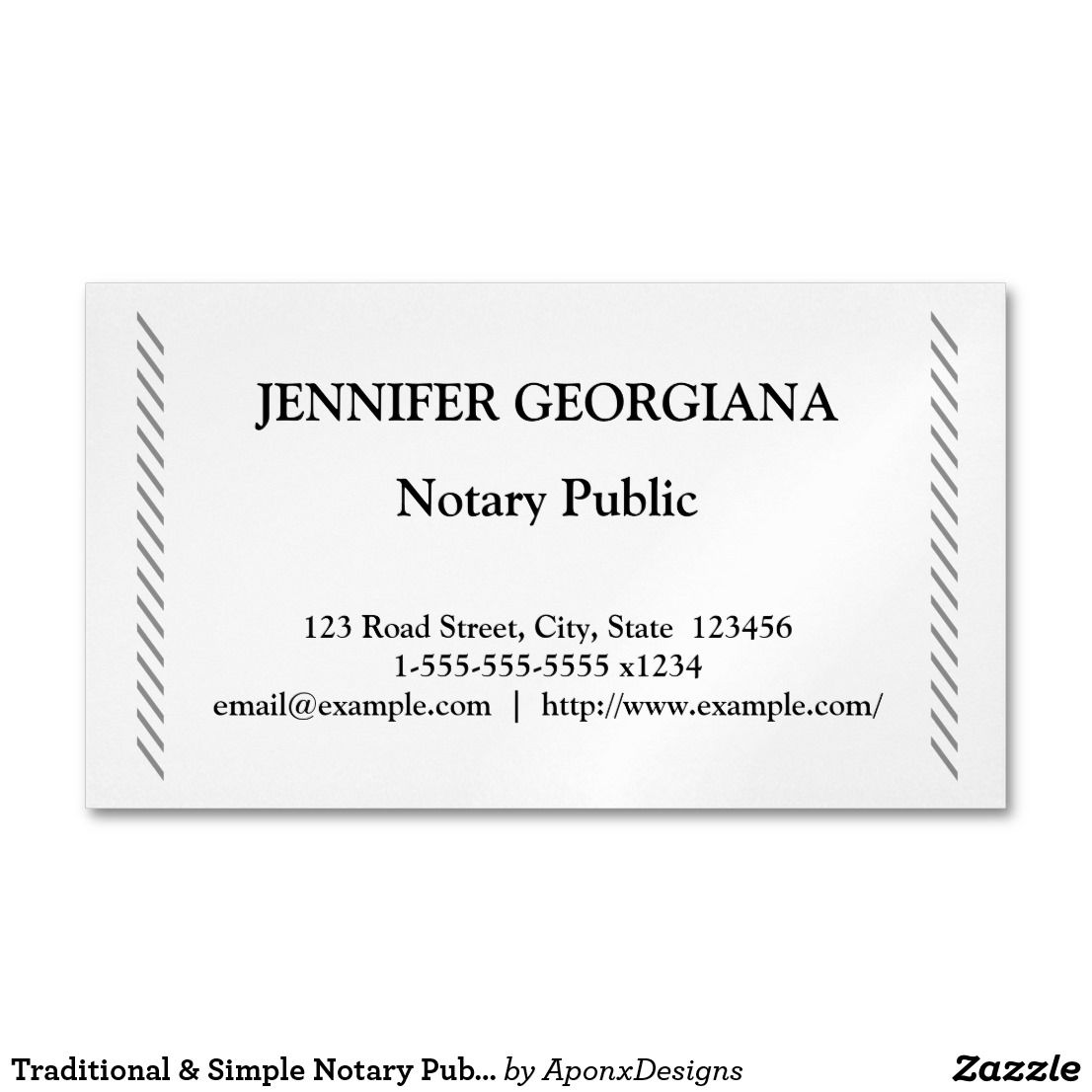 Traditional Simple Notary Public Business Card Magnet Zazzle Com Notary Public Business Magnetic Business Cards Notary Public