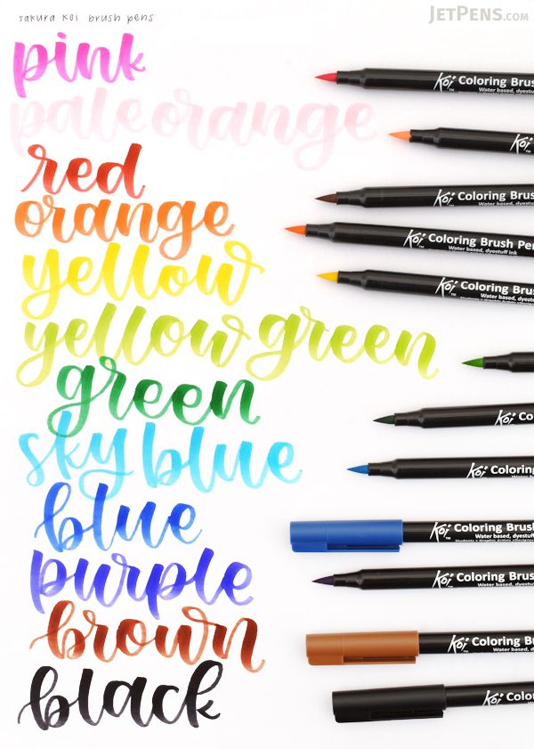 The felt tips of the Sakura Koi Color Brush Pens are durable and ...