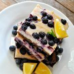 Vegan Lemon Blueberry Cheesecake Bars #lemonblueberrycheesecake
