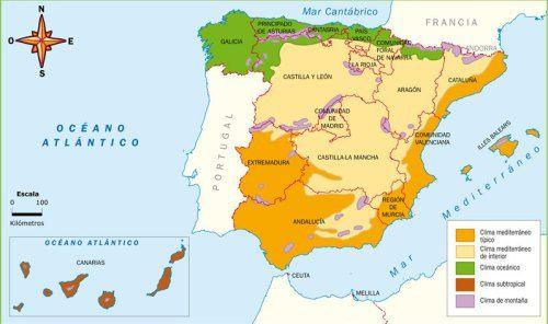 Mapas De Espana Fisicos Politicos Y Mudos Mapa De Espana Mapa