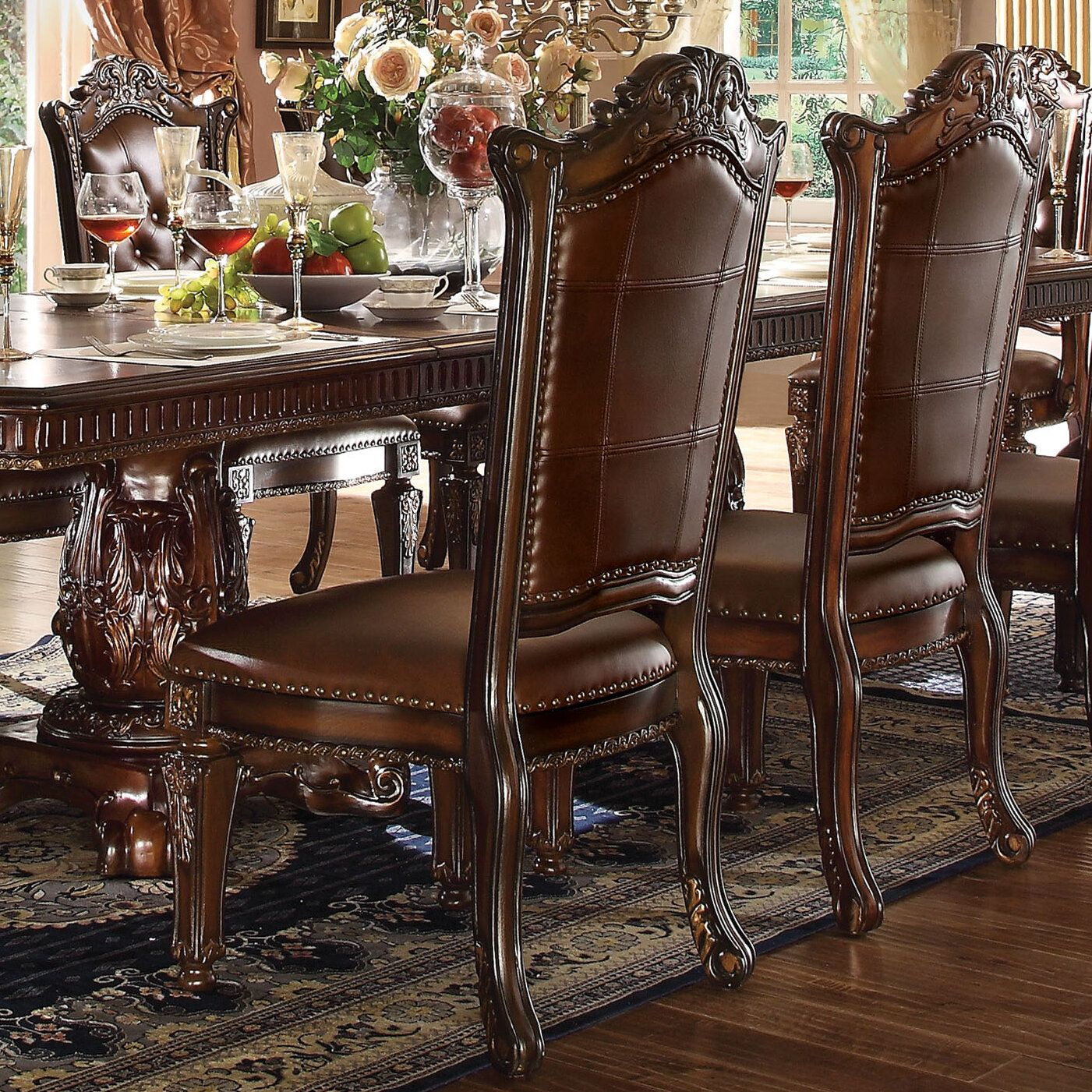 Astoria Grand Welles Scroll Upholstered Dining Chair Wayfair Upholstered Dining Chairs Dining Chairs Side Chairs Dining