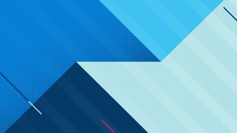 Blue Abstract Design QHD Wallpaper