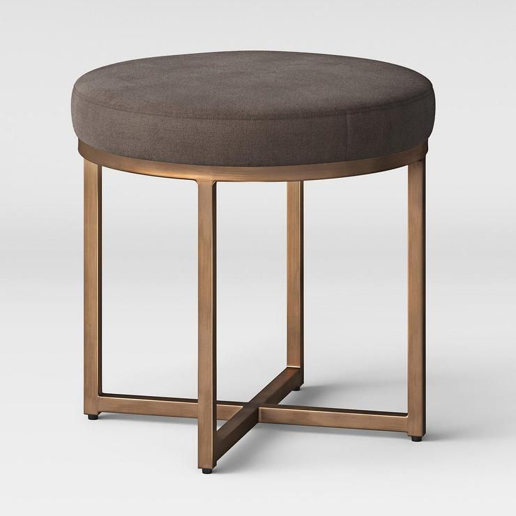 Fine Project 62 Round Brown Bronze Metal Ottoman Piso Garcia Caraccident5 Cool Chair Designs And Ideas Caraccident5Info