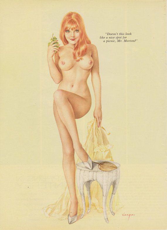 girls pin Vintage vargas nude up