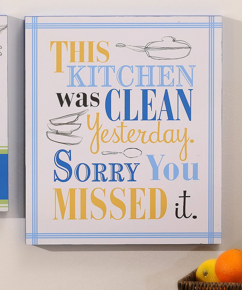 A Messy Kitchen Is A Sign Of Happiness: 'This Kitchen' Wall Plaque