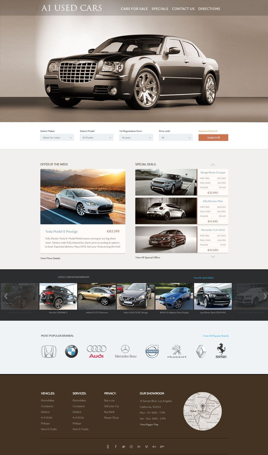 Used Car Dealer Website Design | Car Dealers Web Design | Pinterest ...