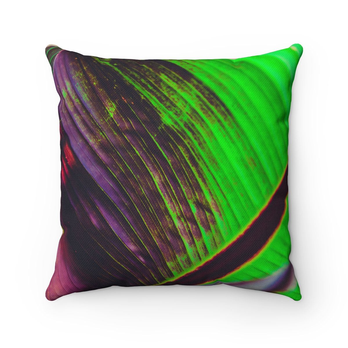 Decorative throw pillows boho style exotic jungle banana leaf floral