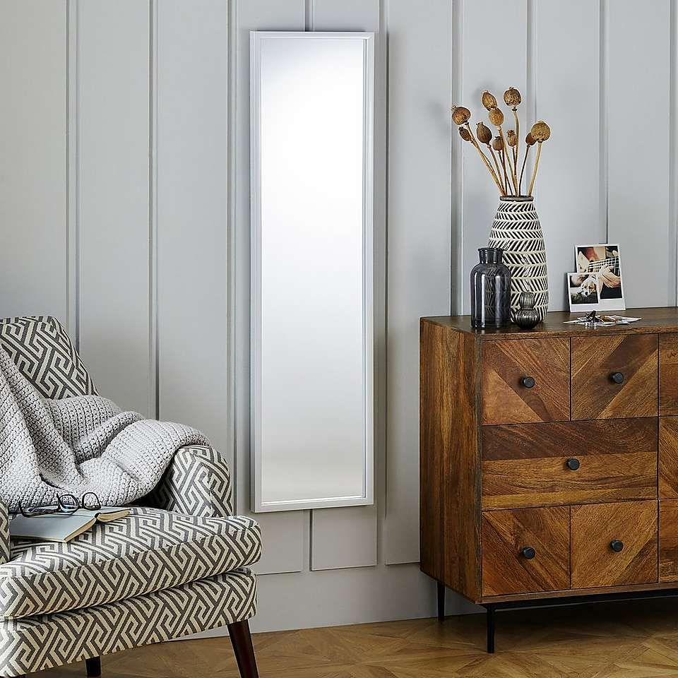 Essentials Full Length White Mirror Dunelm Living Room Inspiration Grey Hanging Wall Mirror Mirrored Bedroom Furniture