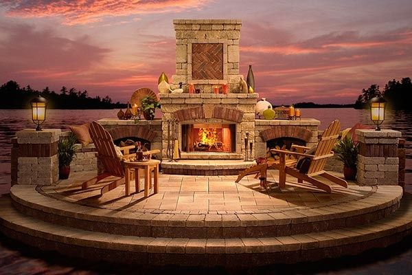 Outdoor fireplaces for-the-home