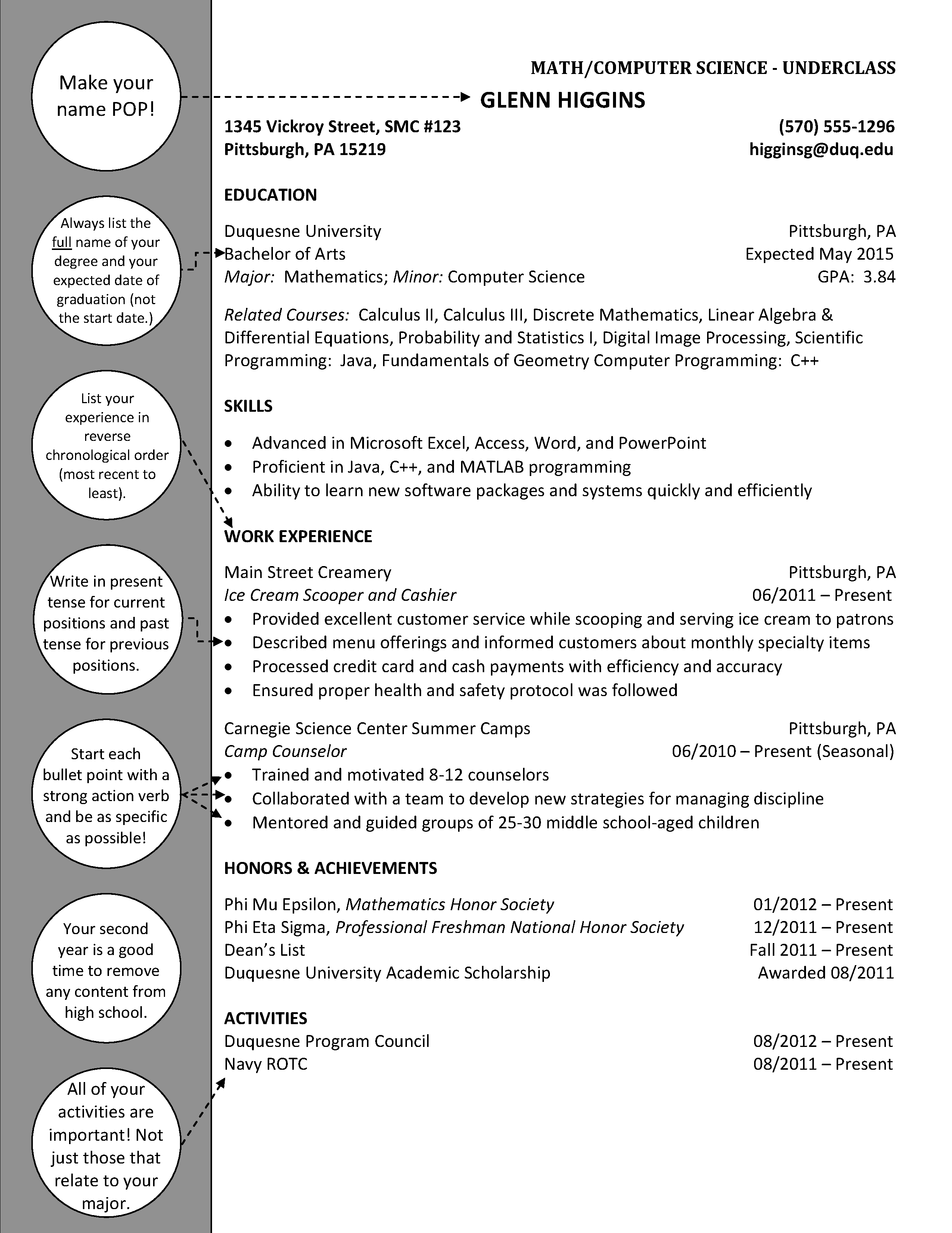Mathematics Computer Science Underclass Cover Letter For Resume Resume Cover Letter Examples Cover Letter Example