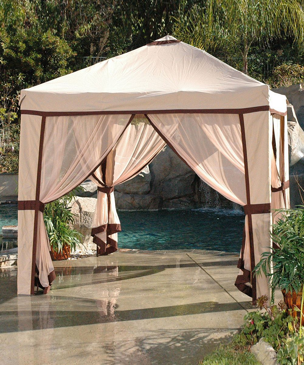 Love This Cabana I Like The Patio Material As Well Polished