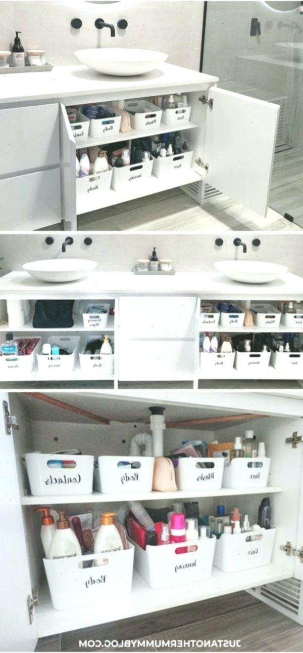 So organisieren Sie Ihren Badezimmerschrank in 2020