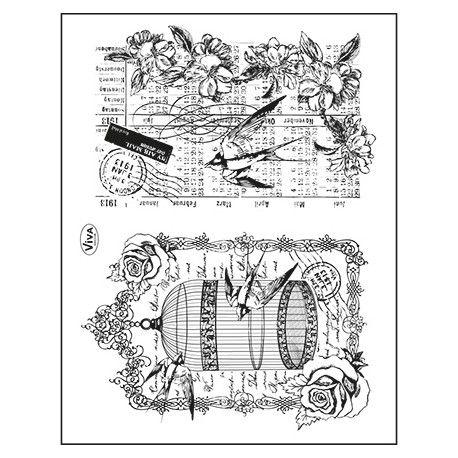 Tampon dessin fond cage oiseau hirondelle nature animaux pinterest - Dessin oiseau en cage ...