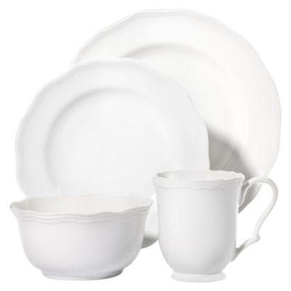 Expect More. Pay Less. White Dinnerware SetsTarget ThresholdWhite ...  sc 1 st  Pinterest & Threshold™ 16 Piece Scalloped Dinnerware Set - White   Apartment ...