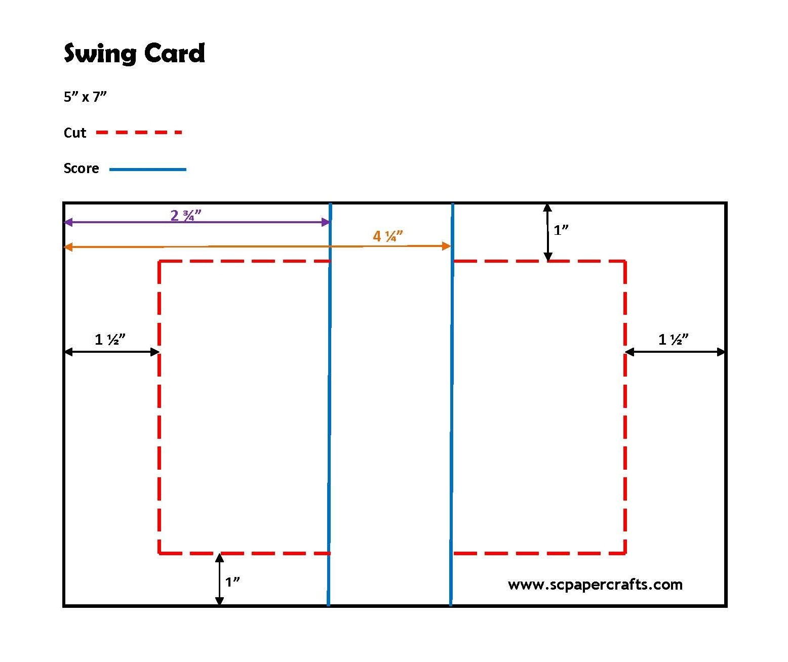 How to cut/score a swing card | Tarjetas plegables | Pinterest ...
