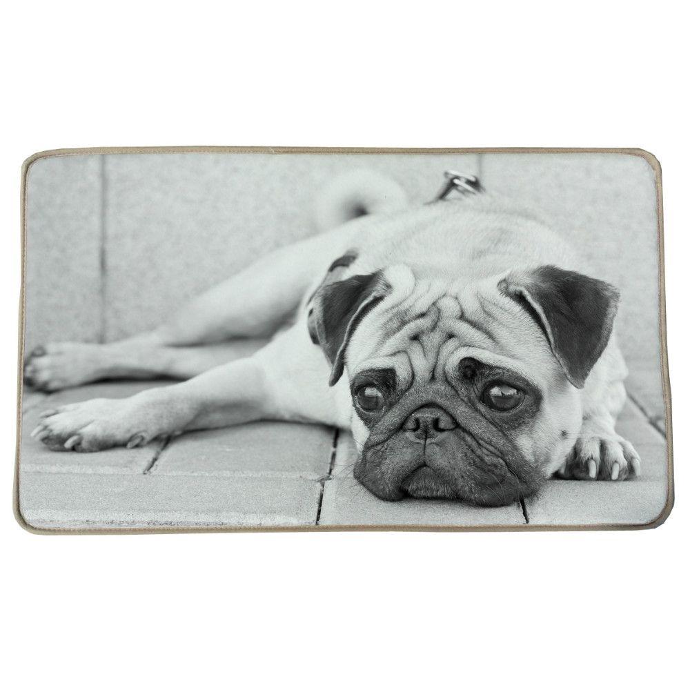 45x72cm Sad Sharpei Dog Print Custom Carpet Non-slip Rugs Pad Living ...