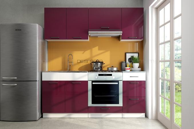 Küchenblock Luiza II 1,8m Die hochwertigen 16 mm Fronten in Wenge - küchenblock 260 cm