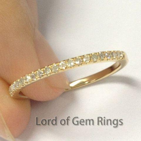 Diamond Wedding Ring Half Eternity Anniversary 14k Yellow Gold VS H 017ct Diamonds