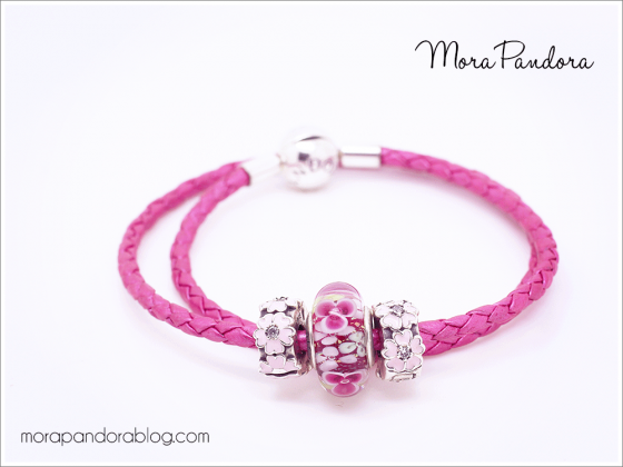 We Love This Bright And Colorful Pandorabracelet Styling With The New Honeyle Pink Leather Bracelet Pandoratexas Pandoracharms
