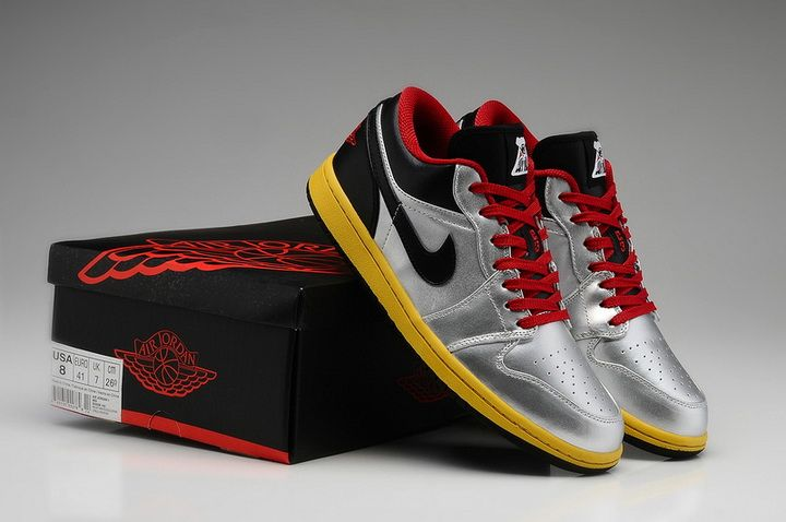ce34187ce922 Air Jordan 1 Retro Men Low Casino Limited Color Silver Black Red ...