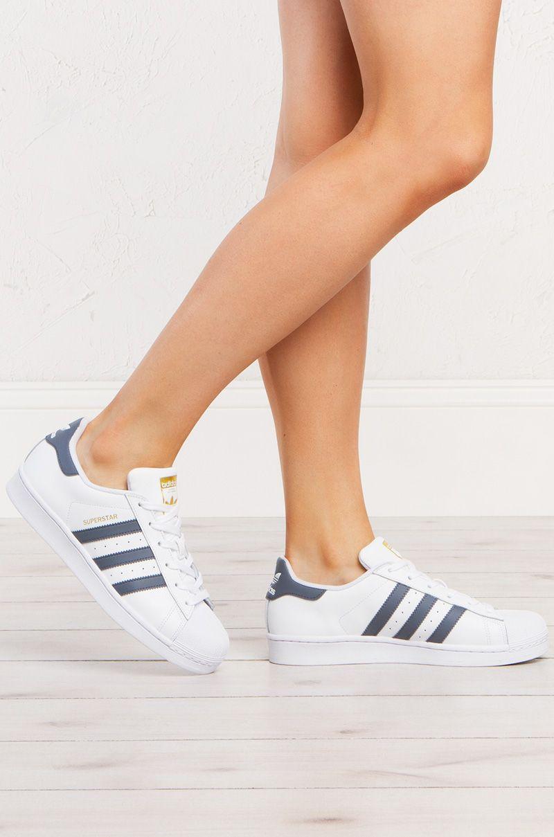 adidas Superstar Sneakers Sneakers Sneakers in White Onix Gold Twinkle Toes 3101d9