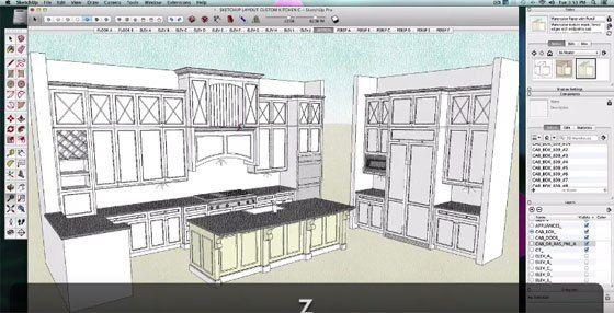 Sketchup Kitchen Tutorial Design Kitchen Sketchup Kitchen Design Cad