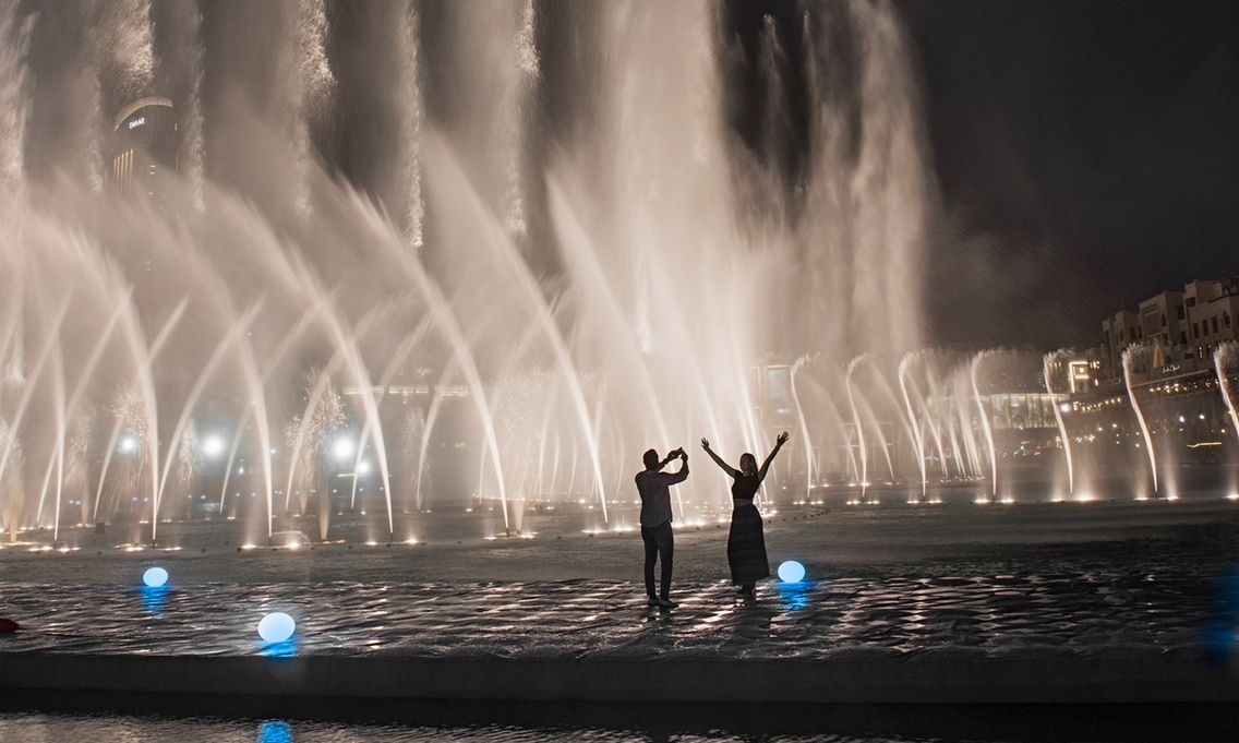 Where to Propose in Dubai   2. The Dubai Fountains