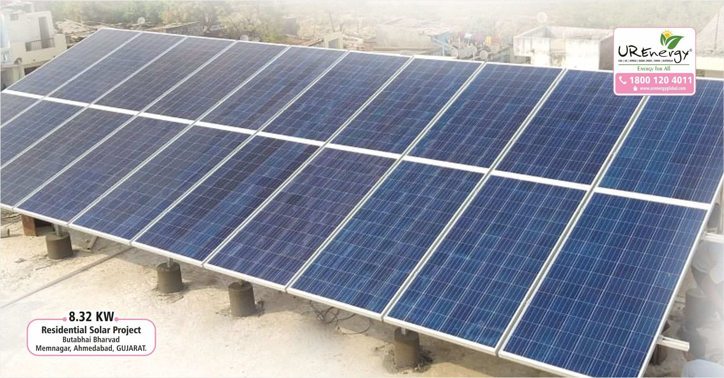 8 32 Kw Residential Rooftop Solar Power System At Ahmedabad Gujarat Installed By U R Energy Team Residential C Solar Solar Water Pump Solar Inverter