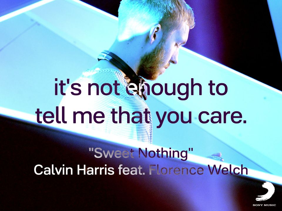 It´s not enough. Más de Calvin Harris en http://www.youtube.com/calvinharrisvevo