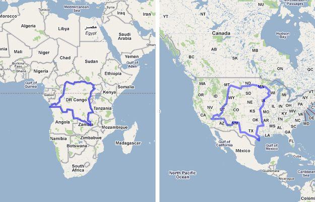 The Democratic Republic of Congo x The United States 19 Maps