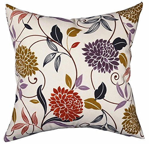 Multisized Both Sides Floral Printing Cushion Cover LivebyCare Linen Cotton Throw Pillow Case Sham Pattern Zipper