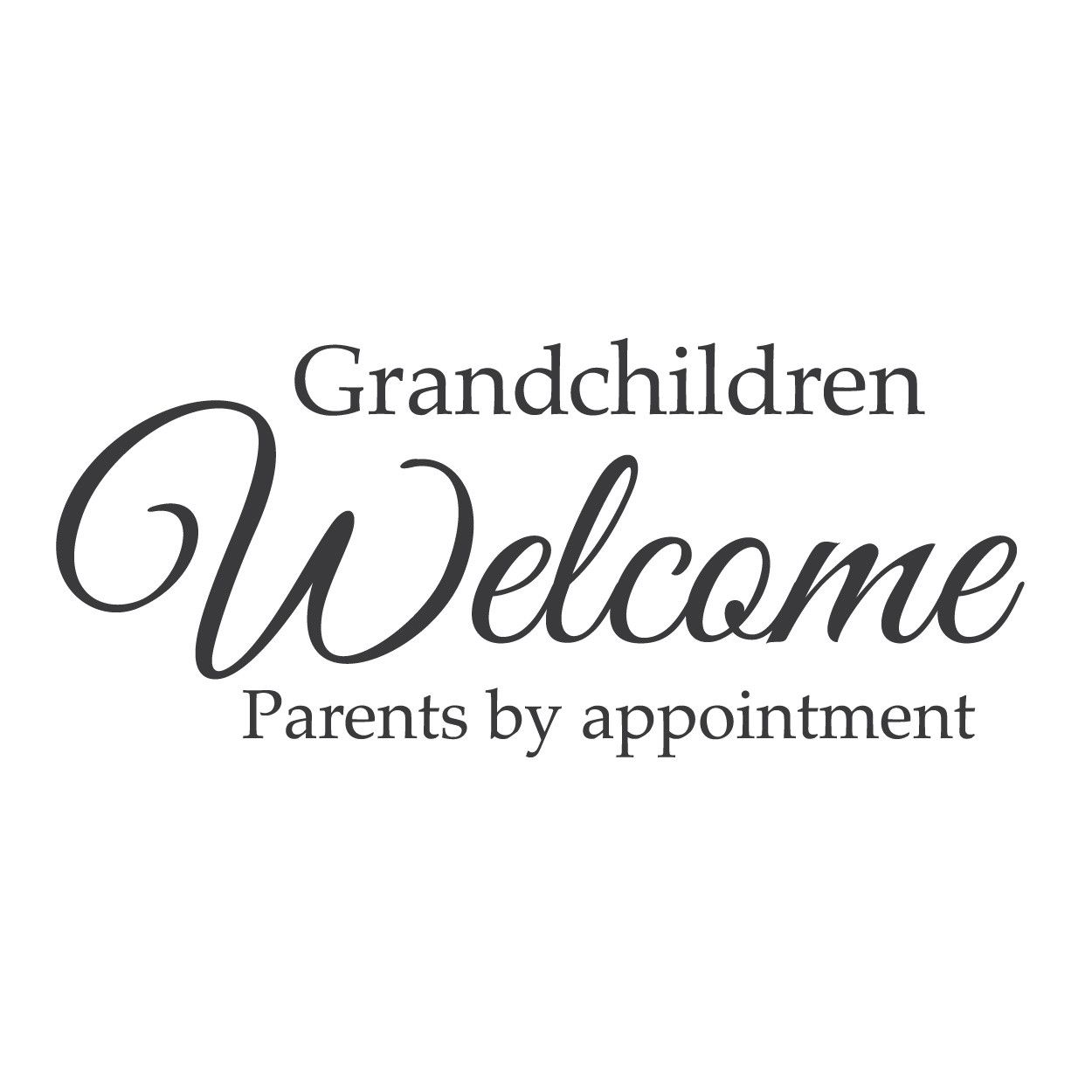 """I Love My Granddaughter Quotes Wall Quotes Wall Decals  """"grandchildren Welcomeparents."""