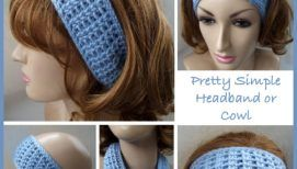 Pretty Simple Headband or Cowl ~ FREE Crochet Pattern #dolldresspatterns