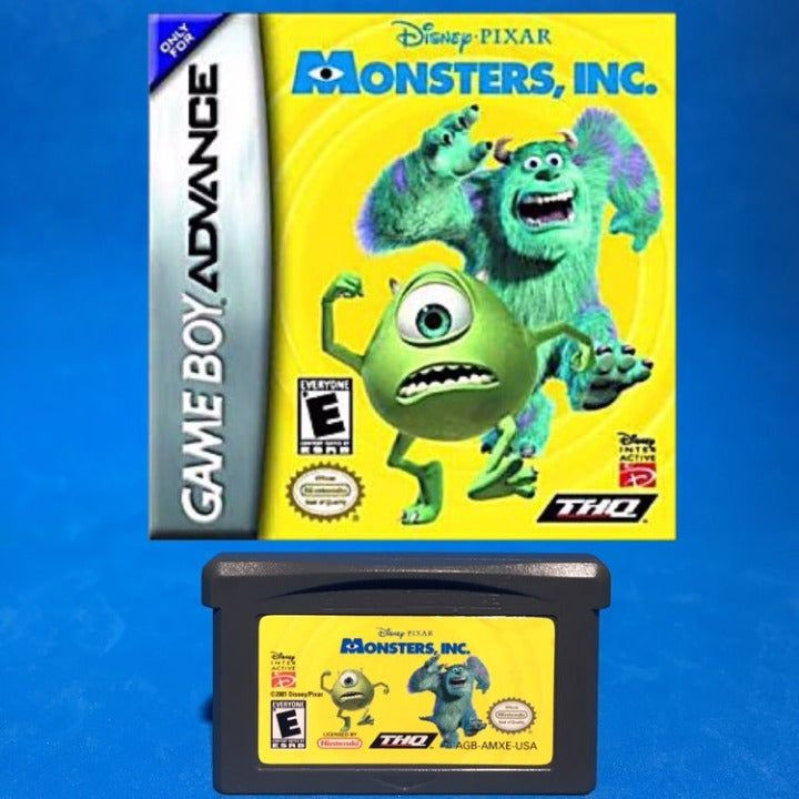 Nintendo Gameboy Advance Sp Monsters Inc Game, Compatible ...
