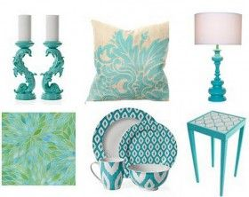 Turquoise Home Decor Accessories turkusowe-dodatki-do-domu | wnętrza kolory | pinterest