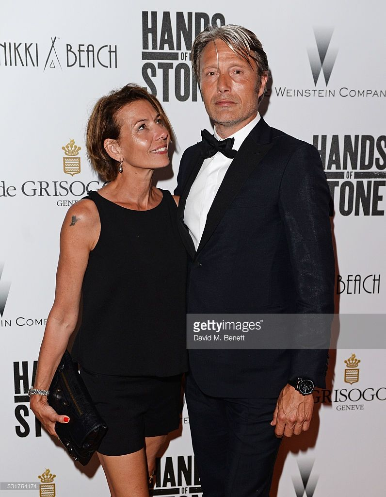 Mads Mikkelsen (R) and wife Hanne Jacobsen attend The Weinstein Company s  HANDS OF STONE After Party In Partnership With De Grisogono At Nikki Beach  Carlton ... cdea501e64b08
