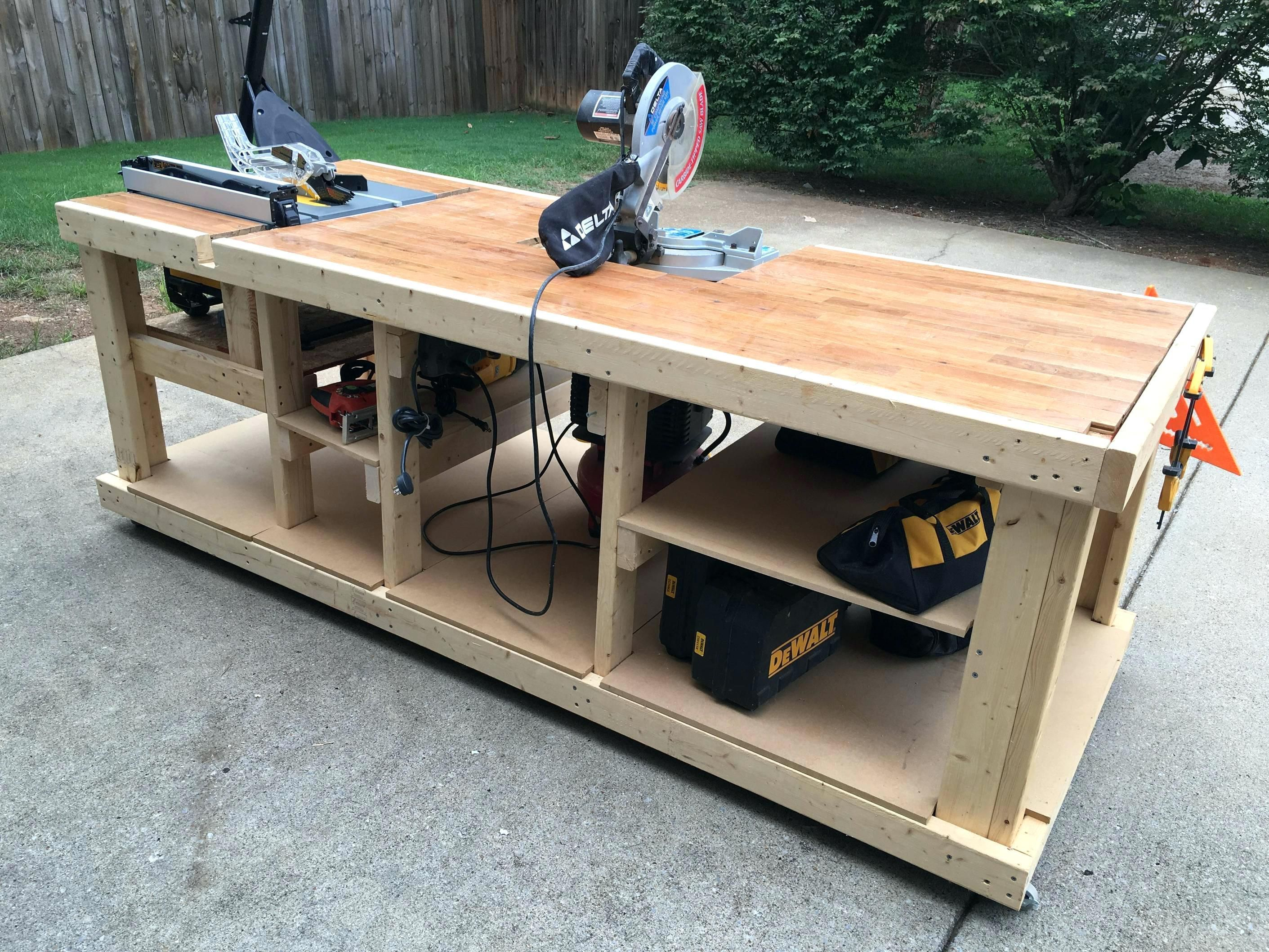 Modular Workbench Plans I Built A Mobile Workbenches Diy Woodworking Bench Plans Mobile Workbench Garage Work Bench