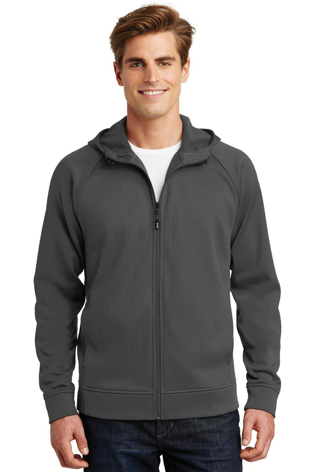 SportTek Rival Tech Fleece FullZip Hooded Jacket ST295