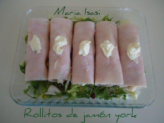ENTRE MANTELES: Rollitos de jamón york