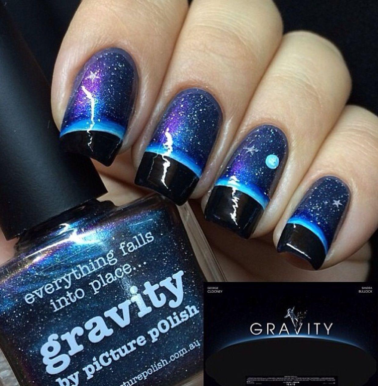 Gravity nails | nails | Pinterest | Manicure, Galaxy nail and Nail nail