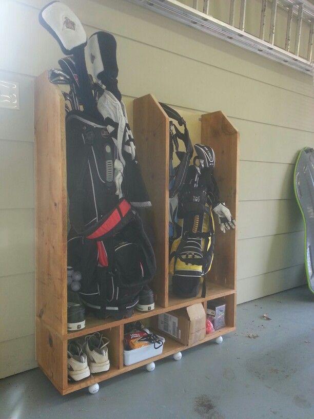 Golf Bag Storage Diy In 2019 Golf Bags Golf Push Cart